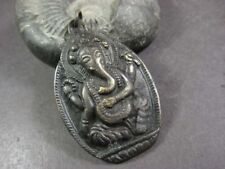P1051 Hindu Lord Elephant Ganesha Antique tone brass Collectible pendant Nepal