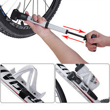 Portable Bike Bicycle Cycling Mini Air Pump Tire Inflator Presta Schrader Valve