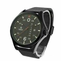 Slava SL10281 Quartz Analog Waterproof Mens Wrist S/S Watch Calendar