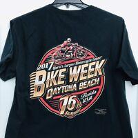 Bike Week 2017 Daytona Beach 76th Annual Motorcycle Black Licensed Size Large