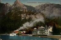 Schiffe 1920 Österreich Weißenbach Attersee Schiff Dampfer Anlegestelle alte AK