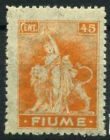 Fiume 1919 Sass. B41 zzk Nuovo ** 100% Allegorie e vedute