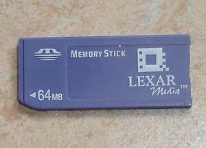 Original 64MB Lexar Memory Stick 64 MB alte Bauweise