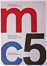 """MC5 - Live at The Vanity Ballroom - Concert Mini Poster Reprint - 10""""x14"""""""