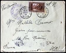 ARGELIA 1941 CARTA HOSPITAL MILITAR CAMISETA SOBRE 165CA111