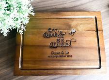 Personalized Acacia Chopping Board, Serving Board - Eat, Drink Be Married Design
