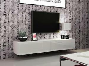 Seattle 21 - White modern TV wall unit  / cheap entertainment center