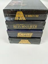 STAR WARS TRILOGY SPECIAL LETTERBOX COLLECTOR'S EDITION 4 VHS SET factory sealed