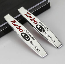 2pcs Auto Car Metal chrome Fender Badges Emblems Decal Sticker For fit TUBRO new