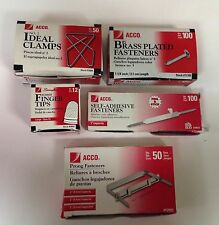 'ACCO' Brand Office Bundle: Assorted Fasteners,Ideal Clamps,Finger Tips, ALL NEW