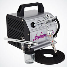 NEW Pro 2 Dual-Action Airbrush & Air Compressor Kit Hobby Paint Auto Tattoo Nail