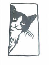 cutout silhouettes! Black metal cat frame