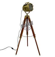 Retro Floor Lamp Long Industrial Theatre Stage Spotlight w/Wooden Tripod Bedroom