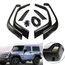 6'' Fender Flares Protector For 97-06 Jeep Wrangler TJ Pocket Rivet Style Black