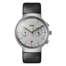 Braun Mens Gents Analogue Quartz Watch Black Leather Strap BN0265SLBKG