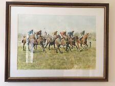 Original Watercolour By Arthur Taylor Horse Racing