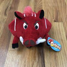 New College University Arkansas Mascot Plush Tusk Red Boar Orbiez Sports NWT