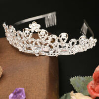 Luxury Bridal Princess Rhinestone Crystal Hair Tiara Wedding Crown Headband