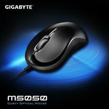 Lot of 10) New Gigabyte M5050 Glossy Black Curvy USB Wired Optical 800DPI Mouse