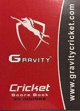Gravity Cricket Colored Score Book- 80 Innings + FREE SHIP+ OZ Stock