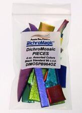 DichroMagic 4oz DichroMosaic Dichroic Black Mosaic Glass Pieces Coe 96