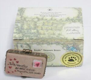 """Boyds Treasure Box #82094 """"Valentino's Letter of Love"""" NIB (New in Box) * MINT"""