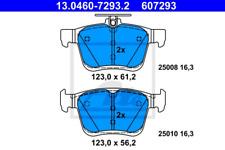 Bremsbelagsatz, Scheibenbremse für Bremsanlage Hinterachse ATE 13.0460-7293.2