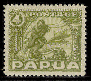 AUSTRALIA - Papua GV SG135, 4d olive-green, LH MINT. Cat £12.