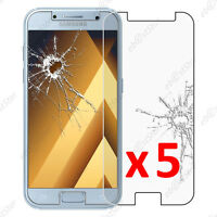 Lot 5 Film protection écran VERRE Trempé anti casse Samsung Galaxy A5 2017 A520F