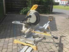 110V DeWalt DW712 LX Sliding Compound Mitre Saw & DeWalt DE7023 Bench