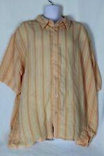 Gachu Men's Shirt Peach Size 3XL Button Front Sheer Short Sleeve NWT