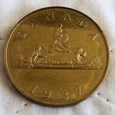 EDWARD VIII CANADA 1937 BRONZE PROOF PATTERN VOYAGEUR DOLLAR
