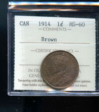1914 Canada Large Cent ICCS Certified MS60 BR DCD114