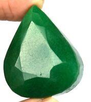 170.80 Ct Natural Pear Brazilian 38 x 32 mm Green Emerald Loose Gemstone Ebay