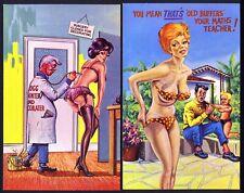 TWO Xerxes Comic Postcards (Ref: 100003 & 100009) - Panties - Bikini