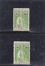 PORTUGUESE INDIA  CERES 1 1/2 r. Paper Pontinhado 15x14 (1914)  Variety