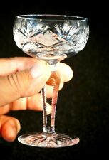 Beautiful Czech Crystal Champagne Glass