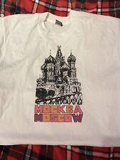 Vtg Tshirt Russia  Mockba Moscow,Russia Mens Size XL