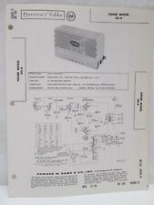 Vintage Sams Photofact Folder Radio Parts Manual Fisher Model 20-A