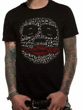 Batman The Dark Knight Joker Ha Outline Mens T-Shirt Licensed Top Black XL