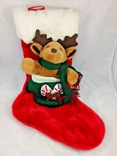 "Reindeer Christmas Stocking 20"" Tb Trading Co Stuffed Animal"