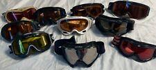 Lot of 10 Ski Snowboarding Winter Goggles Oakley Bollle Carrera Smith Quechua