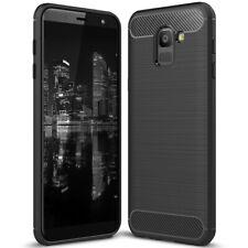 Handige Hoes voor Samsung Galaxy J6 2018 Telefoonhoes Dun Silicone Soft Zwarte