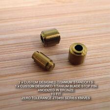 Zero Tolerance ZT0450 450 CF ZT Titanium Blade Stop Pin & Standoff Set - BRONZE