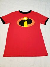 New Disney Pixar The Incredibles, Ringer Red T-Shirt Size Large (10-12)