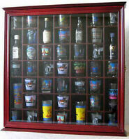 41 Shot Glass Display Case Rack Holder Wall Cabinet, Shadow Box SC03-CHE