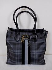 Tommy Hilfiger Plaid Coated Canvas Tote Shopper NWOT