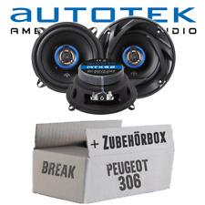 Autotek Lautsprecher für Peugeot 306 Break Heck Boxen Einbauzubehör - Einbauset