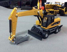 1/64 Scale DieCast Metal Model Wheel Drill 320D Excavator Construction vehicles