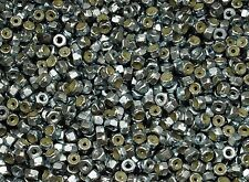 (1500) Nylock #8 Hex Machine Nuts 8-32 Zinc Plated Nyloc